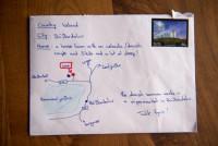 Ирландский почтальон доставил письмо по карте, нарисованной на конверте